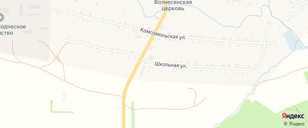Школьная улица на карте села Айлино с номерами домов