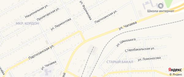 Улица Чапаева на карте Бакала с номерами домов