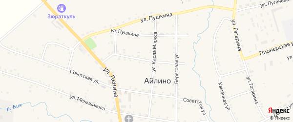 Улица Степана Разина на карте села Айлино с номерами домов