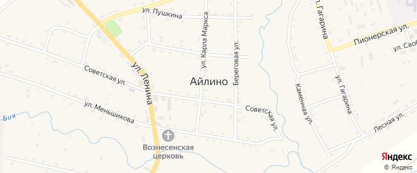 Сад Колокольчик СНТ на карте села Айлино с номерами домов