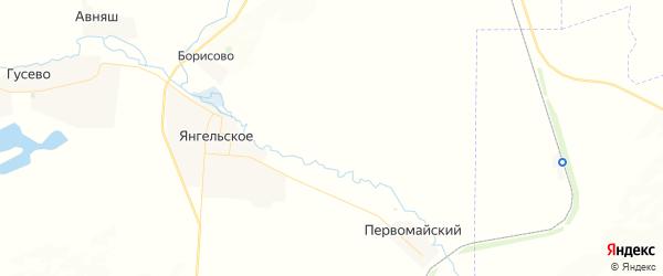 Карта Янгильского сельсовета республики Башкортостан с районами, улицами и номерами домов