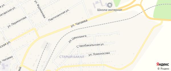 Улица Цвиллинга на карте Бакала с номерами домов