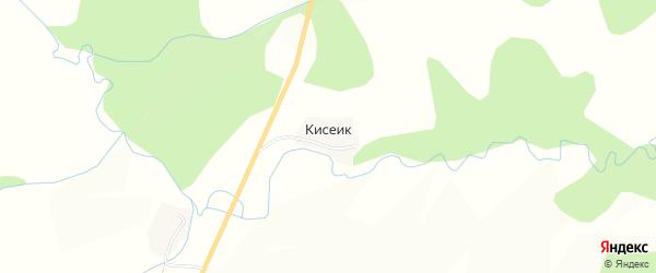 Карта деревни Кисеик в Башкортостане с улицами и номерами домов