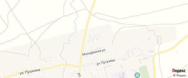Окраинная улица на карте села Айлино с номерами домов