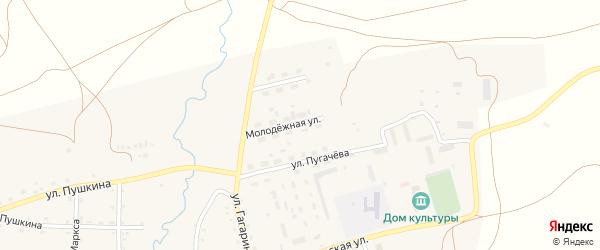 Молодежная улица на карте села Айлино с номерами домов