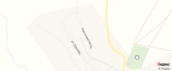 Партизанская улица на карте села Баимово с номерами домов