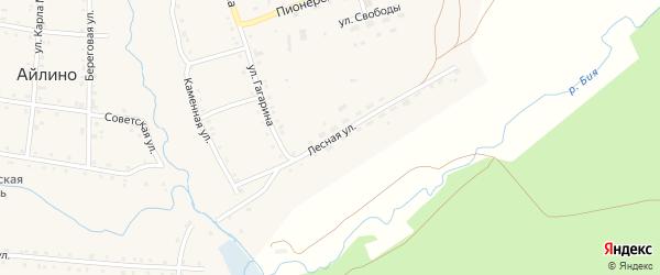 Лесная улица на карте села Айлино с номерами домов