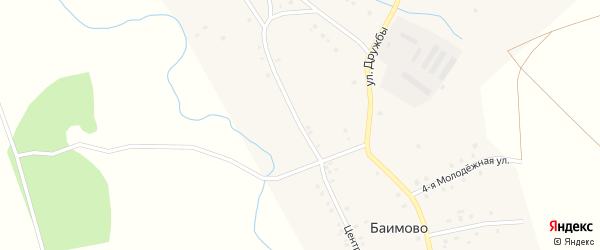 Центральная улица на карте деревни Станции Сухое Озеро с номерами домов