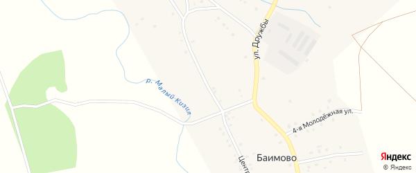Центральная улица на карте деревни Геологоразведки с номерами домов