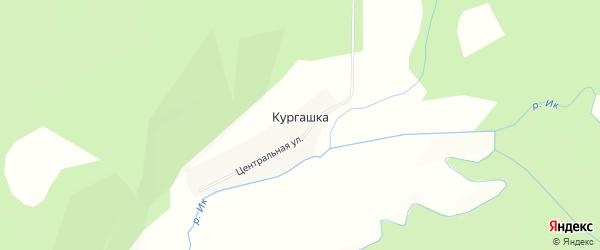 Карта деревни Кургашки в Башкортостане с улицами и номерами домов