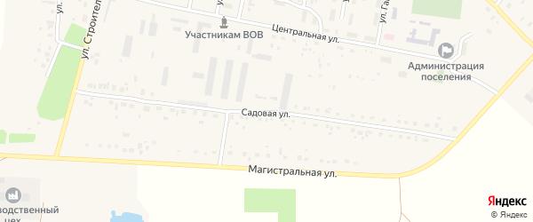 Садовая улица на карте села Красной Башкирии с номерами домов