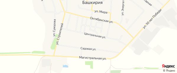 Карта села Красной Башкирии в Башкортостане с улицами и номерами домов