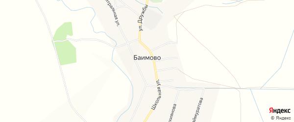 Карта села Баимово в Башкортостане с улицами и номерами домов