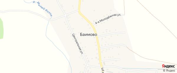 Молодежная 5-я улица на карте села Баимово с номерами домов