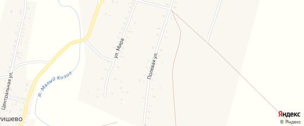 Полевая улица на карте села Баимово с номерами домов