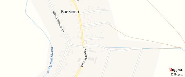 Молодежная 1-я улица на карте села Баимово с номерами домов