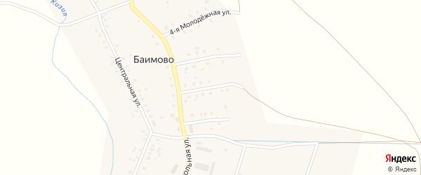 Молодежная 2-я улица на карте села Баимово с номерами домов