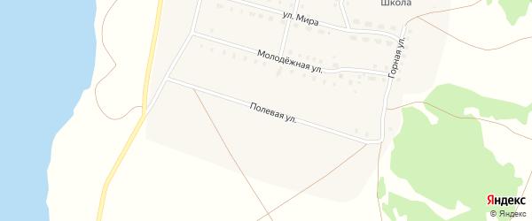 Полевая улица на карте села Озерного с номерами домов