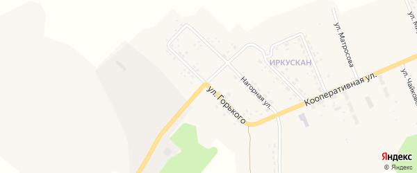 Улица Горького на карте поселка Иркускана с номерами домов