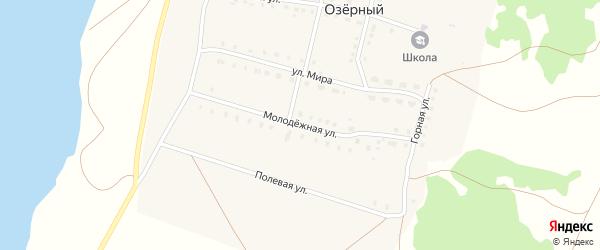 Молодежная улица на карте села Озерного с номерами домов