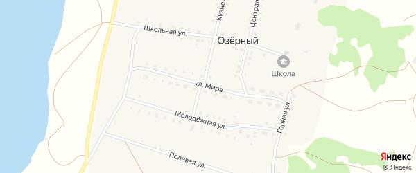 Улица Мира на карте села Озерного с номерами домов