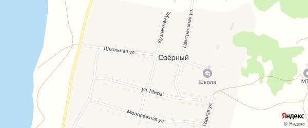 Кузнечная улица на карте села Озерного с номерами домов