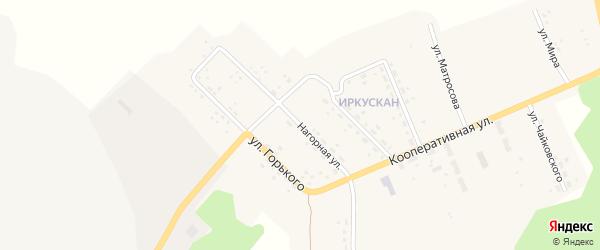 Нагорная улица на карте поселка Иркускана с номерами домов