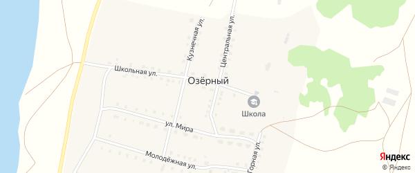 Солнечная улица на карте села Озерного с номерами домов