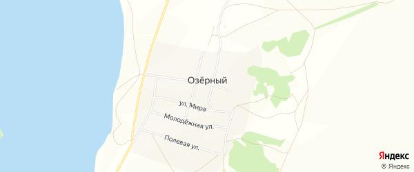 Карта села Озерного в Башкортостане с улицами и номерами домов