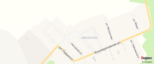 Улица Чернышевского на карте поселка Иркускана с номерами домов