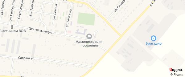 Крайняя улица на карте села Красной Башкирии с номерами домов