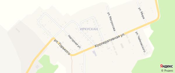 Улица Чкалова на карте поселка Иркускана с номерами домов