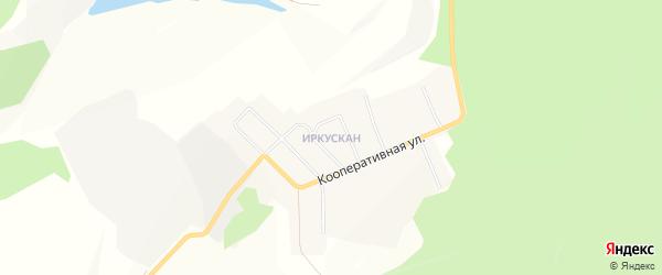 Карта поселка Иркускана города Бакала в Челябинской области с улицами и номерами домов