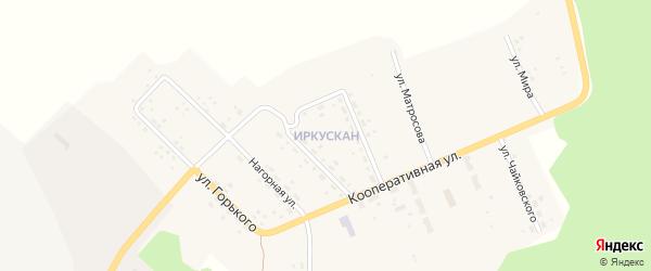 Улица Мира на карте поселка Иркускана с номерами домов