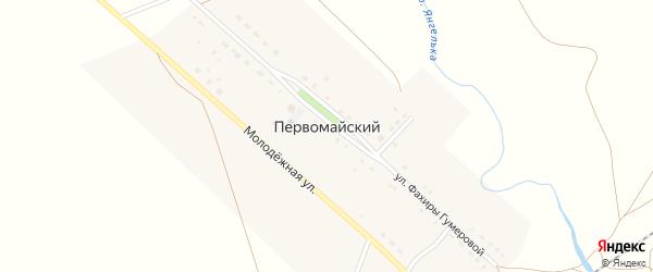 Набережная улица на карте деревни Первомайского с номерами домов