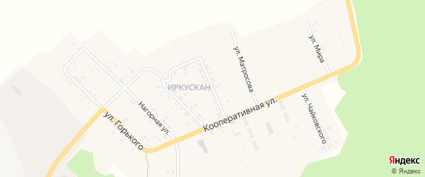 Улица Некрасова на карте поселка Иркускана с номерами домов
