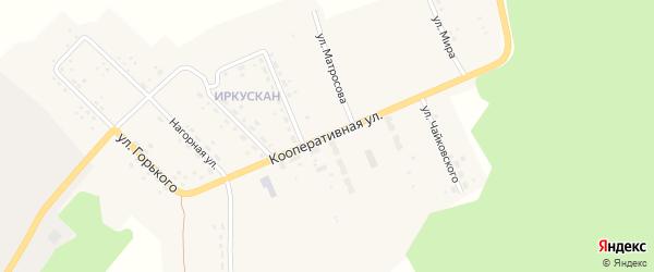 Кооперативная улица на карте поселка Иркускана с номерами домов