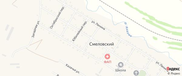 Партизанский переулок на карте Смеловского поселка с номерами домов