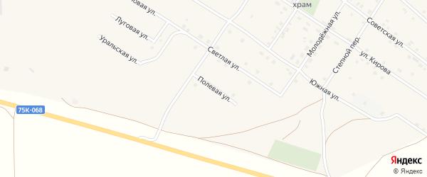 Полевая улица на карте Смеловского поселка с номерами домов