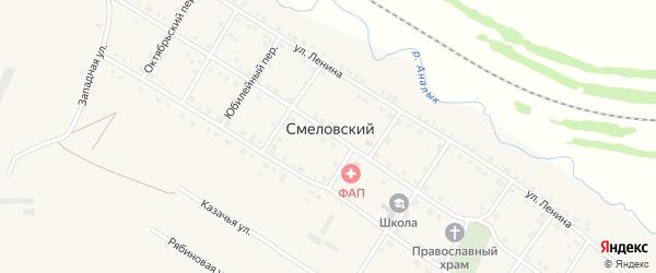 Казачья улица на карте Смеловского поселка с номерами домов
