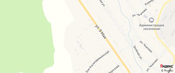 Улица Зои Космодемьянской на карте поселка Сулеи с номерами домов