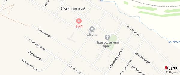 Улица Кирова на карте Смеловского поселка с номерами домов