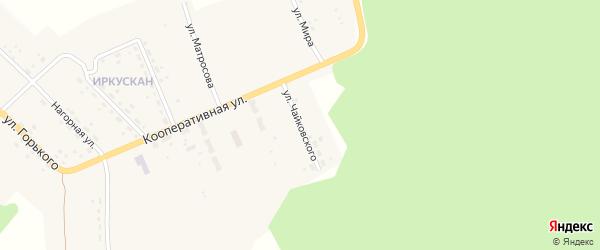Улица Чайковского на карте поселка Иркускана с номерами домов