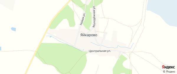Карта деревни Яйкарово в Башкортостане с улицами и номерами домов