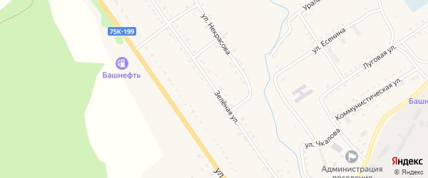 Зеленая улица на карте поселка Сулеи с номерами домов