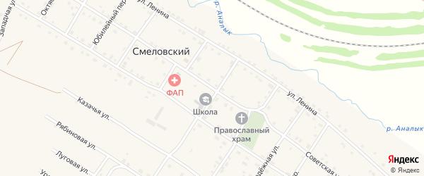 Советская улица на карте Смеловского поселка с номерами домов