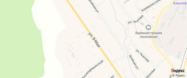 9 Мая улица на карте поселка Сулеи с номерами домов