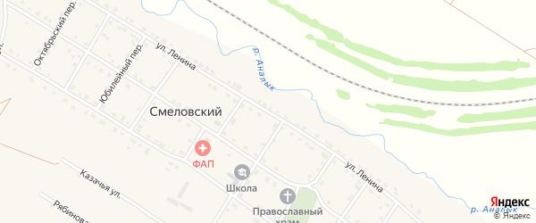 Улица Ленина на карте Смеловского поселка с номерами домов