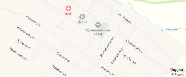Первомайский переулок на карте Смеловского поселка с номерами домов