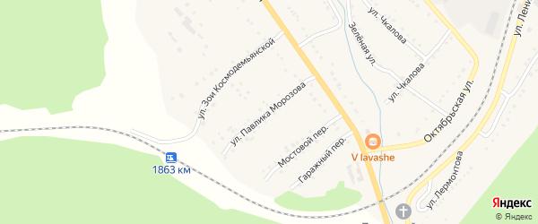 Мостовой переулок на карте поселка Сулеи с номерами домов